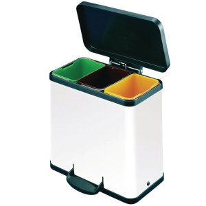 Trento Oko 3 X 11 Recycling Bin White