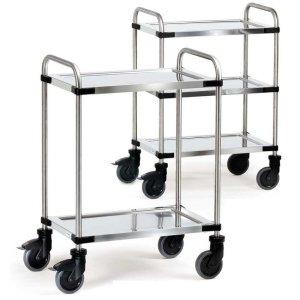 Two Tier Modular Stainless Steel Trolley - Shelf Size 630 x 400mm