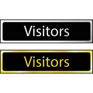 Visitors - Sign CHR (200 x 50mm)