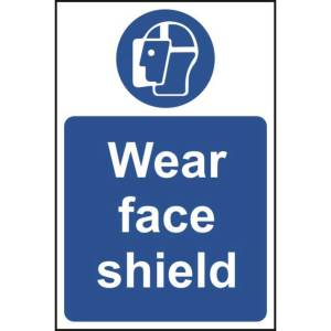 Wear face shield - Self Adhesive Sticky Sign (200 x 300mm)