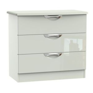 Weybourne 3 Drawer Bedroom Chest White