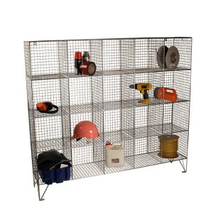 Wire Mesh Lockers with 40 Open Front Compartments 830w x 457d