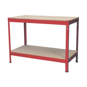 Workbench 1.2M Steel Frame with Wooden Top