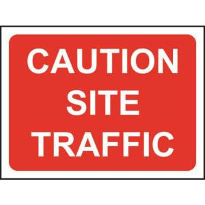 Zintec 1050 x 750mm Caution Site Traffic Road Sign with Frame