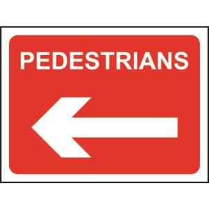 Zintec 1050 x 750mm Pedestrians Left Road Sign (no frame)
