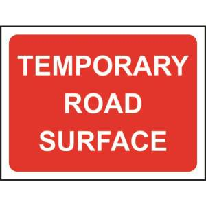 Zintec 1050x750mm Temporary Road Surface Road Sign with Frame
