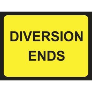 Zintec 600 x 450mm Diversion Ends Road Sign (no frame)