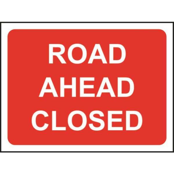 Zintec 600 x 450mm Road Ahead Closed Road Sign (no frame)