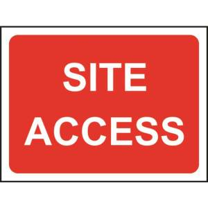 Zintec 600 x 450mm Site Access Road Sign (no frame)