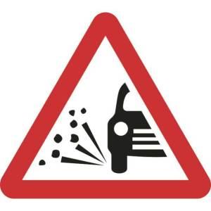 Zintec 750mm Triangular Loose Gravel Road Sign (no frame)