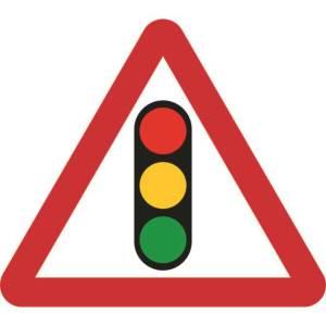 Zintec 750mm Triangular Traffic Lights Road Sign (no frame)