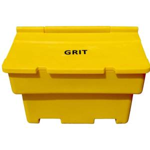 200ltr Grit Bin With 8 x 25kg Bags of Rock Salt and Hasps and Staples