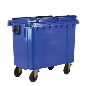 660L Blue Wheelie Bin - 1200 x 1350 x 770mm