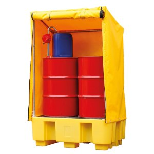 Double IBC Containment Pallet with Cover