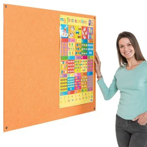 Eco-Colour Frameless Resist-a-Flame notice board - 1200 x 1500mm