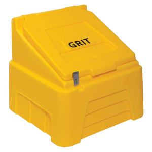 Heavy Duty Grit Bin - 200kg capacity - Yellow