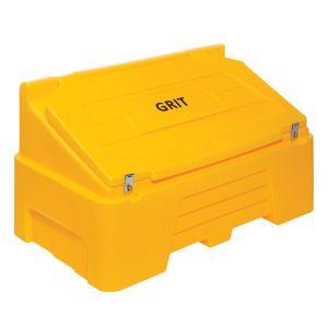 Heavy Duty Grit Bin - 400kg capacity - Yellow