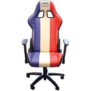 Laser Laser 6656 Racing Office Chair (Red/White/Blue)