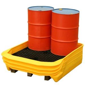 Palcon 4 Drum Pallet Converter - turns standard pallets into a spill bund