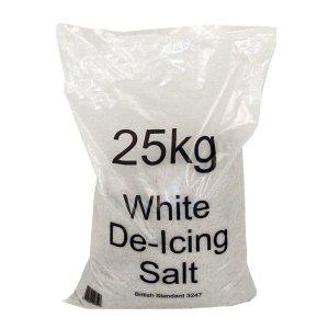 Pallet of 20 x 25kg White Road Salt