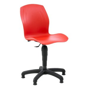 Polypropylene Industrial Swivel Chair with Glides, Low Lift 430-570 h