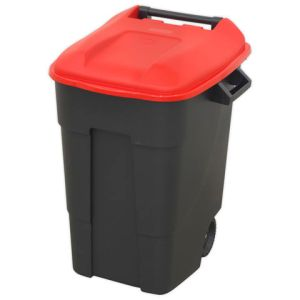 Sealey Sealey BM100R Refuse/Wheelie Bin 100L - Red