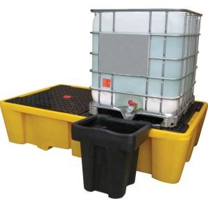 Single IBC Bund Containment Pallets - 1,100 litre / 1,500kg capacity