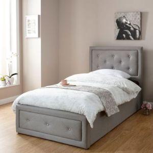 Hollywood Single Ottoman Bed Grey