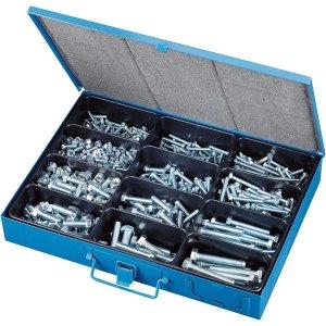 Affix Hexagonal Steel Bolts & Nuts Assortment In Steel Case - 750 ...