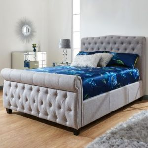 Lucerne King Size Ottoman Bed Grey