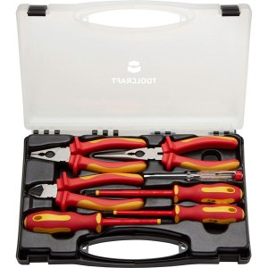 Toolcraft TO-5005137 Electricians VDE Tool Set in Case 7pc