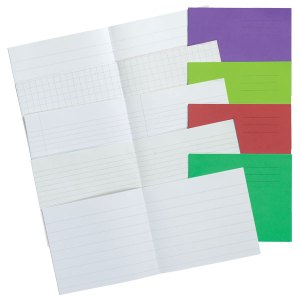 5.25 x 6.5in Exercise Book Plain 24 Page Light Purple Box of 100