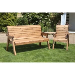 Charles Taylor 4 Seat Angled Tete-a-tete Bench & Table
