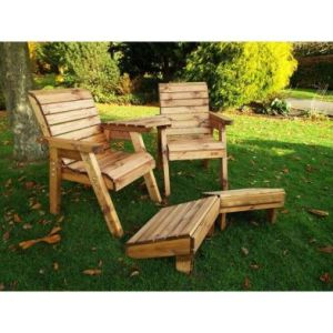 Charles Taylor Deluxe 2 Seat Angled Bench & Foot Rest Set