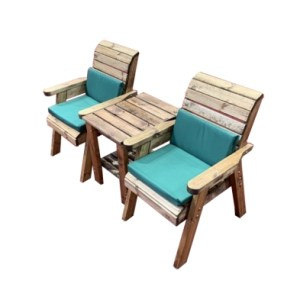 Charles Taylor Deluxe 2 Seat Garden Bench - Green Cushions