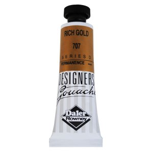 Daler-Rowney 136005707 Designers' Gouache Paint 15ml Rich Gold