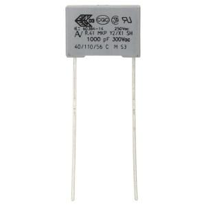 Kemet R413I21000000M 10nF Radial Poly. Capacitor 20% 300V Y2/X1