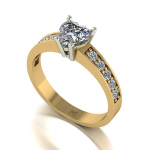 Lady Lynsey Moissanite 9ct Gold 1.00ct eq Heart Solitaire Ring