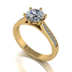 Lady Lynsey Moissanite 9ct Gold 1.40ct eq Solitaire Ring