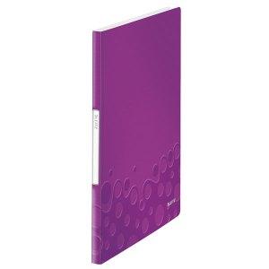 Leitz WOW Display Book 20 Pockets Purple