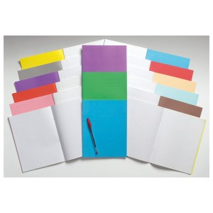 Rapid 9x7in Exercise Book Ruled 8mm & Margin 80 Page Buff Box of 100