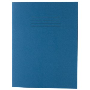 Rapid 9x7in Exercise Book Ruled 8mm & Margin 80 Page Light Blue Bo...