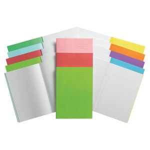 Rapid A4 Exercise Book Ruled 8mm & Margin 80 Page Red Box of 50