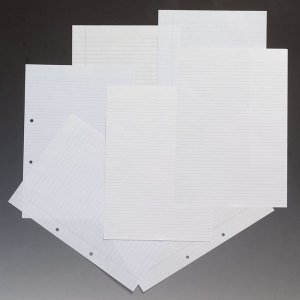 Rapid A4 Paper Ruled 8mm Two Margins Corner Punched 75gsm 500 Sheets