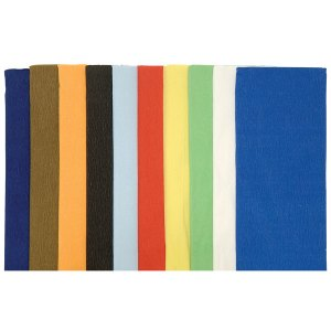 Rapid Assorted Crepe Folds (50cmx2m) - Pack of 10