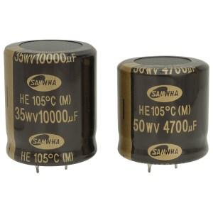 Samwha HE1H109M35040HA 10000uf 50V 105deg He Snap-in Capacitor