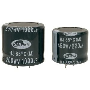 Samwha HJ2D227M22020HC 220uf 200V 85deg Hj Snap In Capacitor