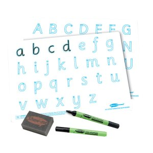 Show-me Bulk Box: Letter Formation A4 Boards, Pens and Erasers