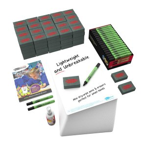 Show-me Plain 650 Micron A4 Dry Wipe Boards, Pens and Erasers (Pac...