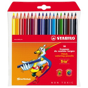 Stabilo Trio Thick Pencil Wallet - Pack of 18